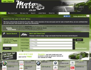 motofinder.co.za screenshot