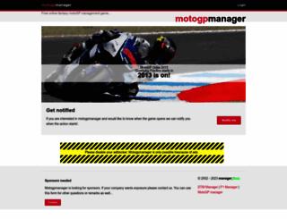 motogpmanager.com screenshot