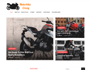 motorbike-crazy.com screenshot
