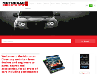 motorcardirectory.co.uk screenshot