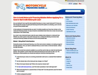 motorcycle-financing-guide.com screenshot