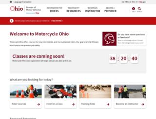 motorcycle.ohio.gov screenshot