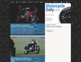 motorcycledaily.com screenshot