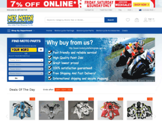 motorcyclefairingsale.com.au screenshot