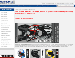 motorcyclehelmetsandjackets.com screenshot
