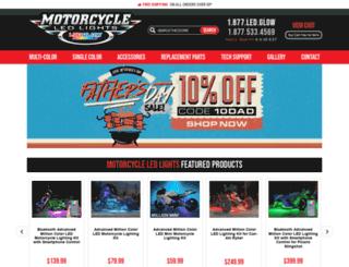 motorcycleledlights.com screenshot