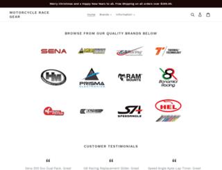 motorcycleracegear.com.au screenshot