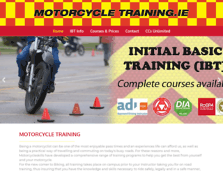 motorcycletraining.ie screenshot