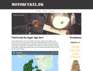 motorcykel.dk screenshot