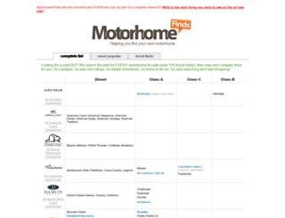 motorhomefinds.com screenshot