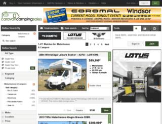 motorhomes.com.au screenshot