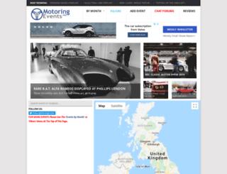 motoringevents.net screenshot