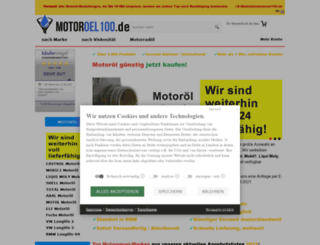 motoroel100.de screenshot