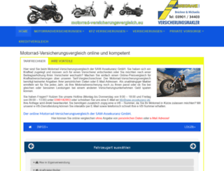 motorrad-versicherungsvergleich.eu screenshot