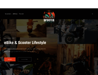 motorscooterguide.net screenshot