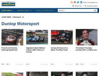 motorsport.dunlop.eu screenshot