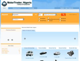 motortradernigeria.com screenshot