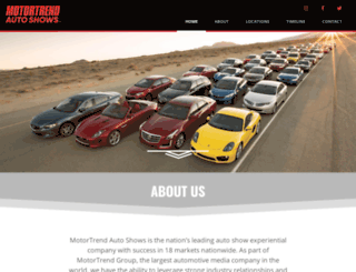 motortrendautoshows.com screenshot