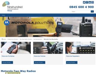 mototrbo-twowayradios.co.uk screenshot