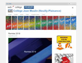 moulin-neuillyplaisance.webcollege.fr screenshot