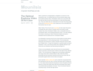 mounilsix.wordpress.com screenshot