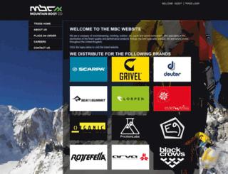 mountainboot.co.uk screenshot