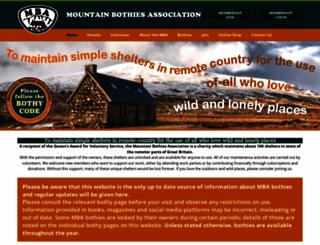 mountainbothies.org.uk screenshot