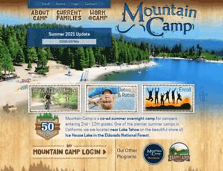 mountaincamp.com screenshot