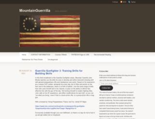 mountainguerrilla.wordpress.com screenshot