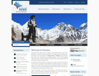 mountainhawktrek.com screenshot
