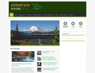 mountainhikingsite.com screenshot