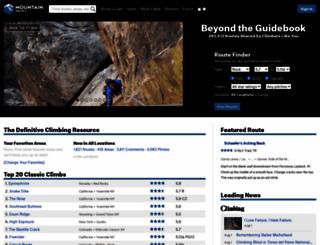 mountainproject.com screenshot