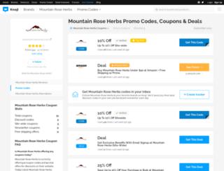 mountainroseherbs.bluepromocode.com screenshot
