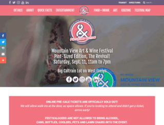 mountainview.miramarevents.com screenshot