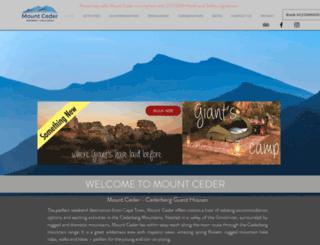 mountceder.co.za screenshot