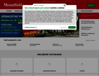 mountfield.cz screenshot