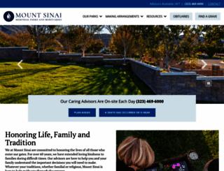 mountsinaiparks.org screenshot