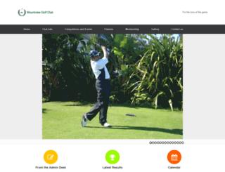mountviewgolfclub.co.za screenshot
