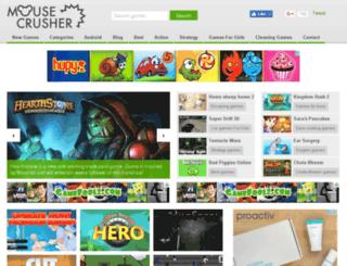 mousecrusher.com screenshot