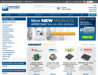 mouser.com screenshot