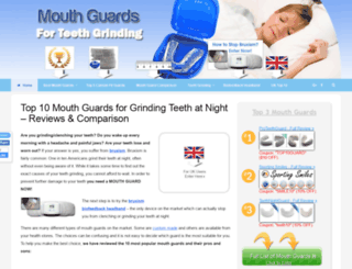 mouthguardsforteethgrinding.com screenshot