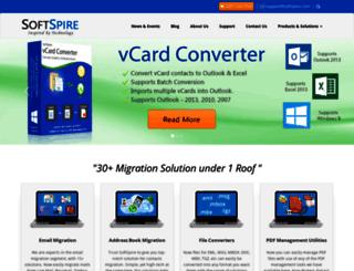 move-outlook-express-mac-mail.softspire.com screenshot