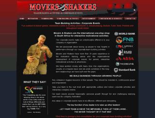 moversandshakers.co.za screenshot
