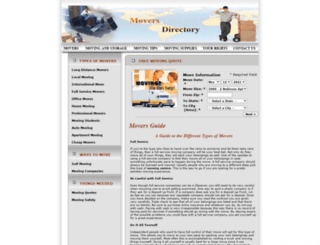 moversdirectory.org screenshot