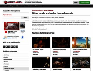movies-other.ambient-mixer.com screenshot