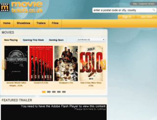 movietickets.co.uk screenshot