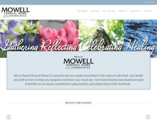 mowellfuneralhome.com screenshot