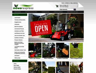 mowerexpress.co.uk screenshot