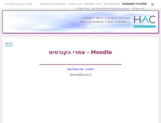mowgli.hadassah.ac.il screenshot