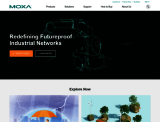 moxa.com screenshot